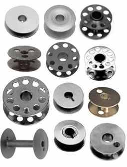 Sewing Machine Universal Curved Metal Bobbins Six Per Packet
