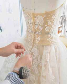 Sewing a wedding dress