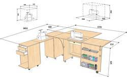Sewing-Machine-Table-Dimensions