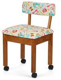 Sewing-Stool-on-Wheels
