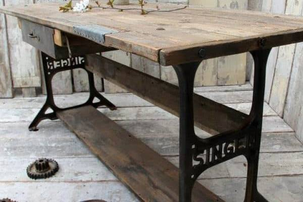Recycle-or-Repurpose-Sewing-Machine-Cabinet,-Table,-Motor