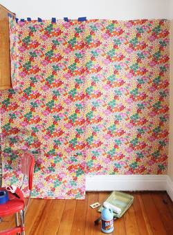 How-to-Tape-Fabric-to-a-Wall