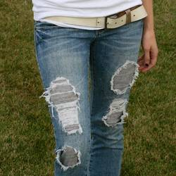 Ripped-Jeans-with-Fabric-Underneath